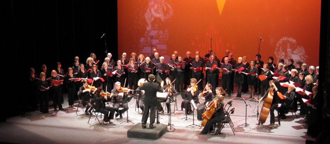 La chorale en concert